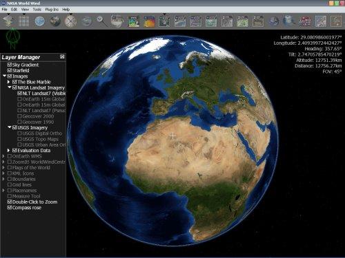 Программу просмотра земли космоса
